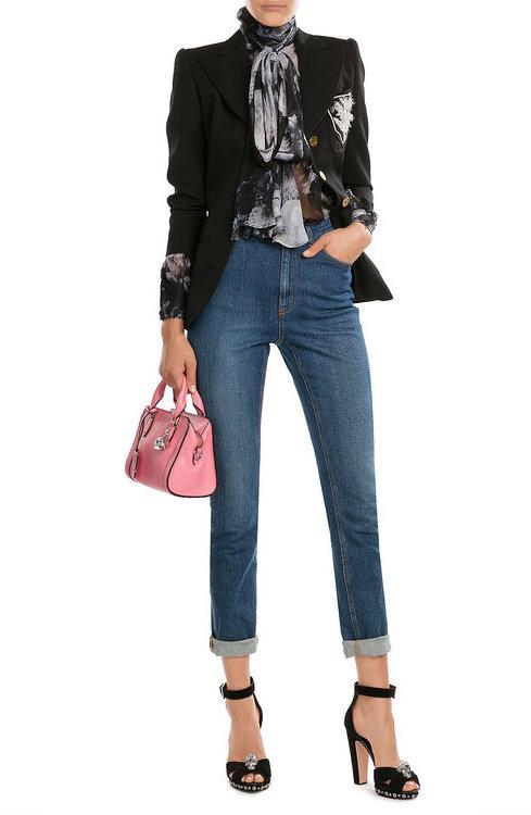 Alexander McQueenAlexander McQueen Grainy Calf Leather Mini Padlock Zip Around Shoulder Bag