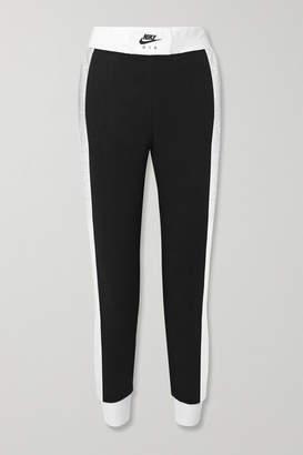 Nike Air Cotton-blend Jersey Track Pants - Black