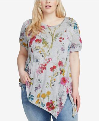 Rachel Roy Trendy Plus Size Split-Sleeve Tunic
