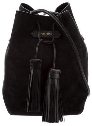 Tom Ford Suede Double Tassel Bucket Bag