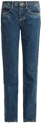 HELMUT LANG Mid-rise straight-leg boyfriend jeans $310 thestylecure.com
