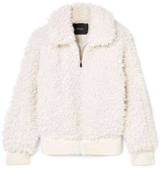 Maje Faux Shearling Jacket - Off-white