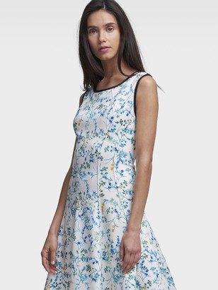 DKNY Stem-Print Fit-And-Flare Dress