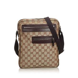6f64c4cf31b3 Pre-Owned at Vestiaire Collective · Gucci Brown Cloth Handbag