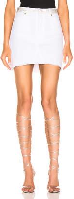 Alexandre Vauthier Denim Mini Skirt in White | FWRD