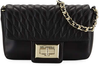 Karl Lagerfeld Paris Agyness Quilted Leather Crossbody Bag