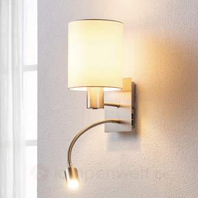 Stoffwandlampe Shajan mit LED-Leselicht