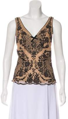 Tracy Reese Embroidered Sleeveless Top