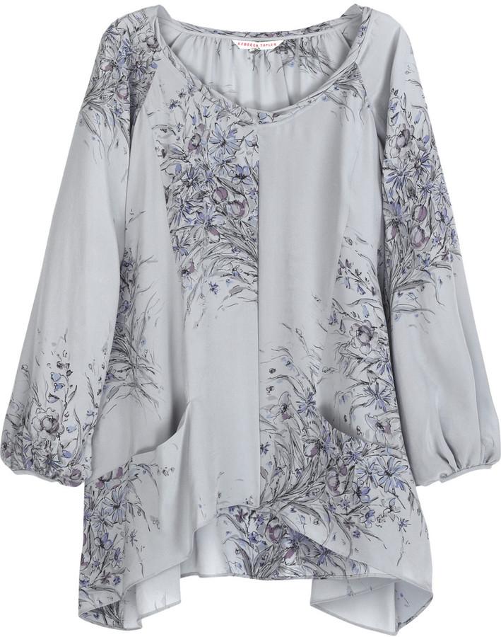 Rebecca Taylor Printed silk blouse
