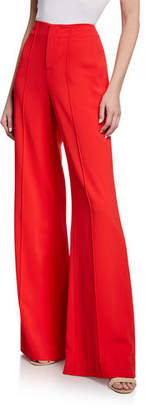 Alice + Olivia Dylan Clean High-Waist Wide-Leg Pants
