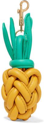 Anya Hindmarch Pineapple Leather Bag Charm - Yellow