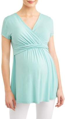 Liz Lange Maternity Maternity Wrap Front Before & After Nursing Top