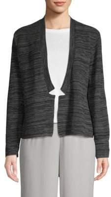Eileen Fisher Textured Open-Front Cardigan