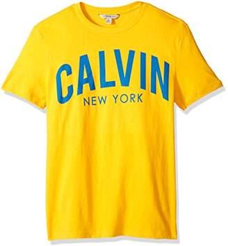 Calvin Klein Jeans Men's Short Sleeve Crew Neck T-Shirt Arch Graphic