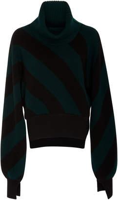 Monse Diagonal Stripe Turtleneck Sweater