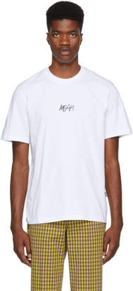 MSGM White Graffiti Logo T-Shirt