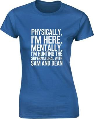 SAM. Brand88 Hunting The Supernatural with and Dean, Ladies Printed T-Shirt