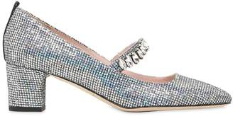Sarah Jessica Parker 50mm Dazzle Glittered Mary Jane Pumps