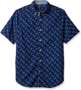 Nautica Men's Short Sleeve Print Button Down Shirt