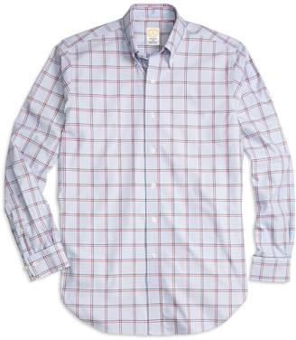 Brooks Brothers Golden Fleece Regent Fit Bold Windowpane Sport Shirt