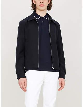 Sandro Contrast trim collar cotton-pique polo shirt