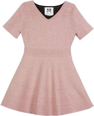Milly Minis Metallic Double-Knit Dress, Size 8-14