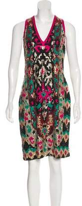Naeem Khan Sleeveless Sequins Dress