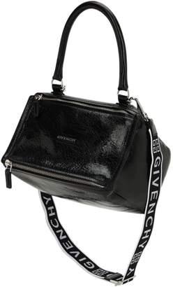 8db79fb9a5 Givenchy Small Pandora 4g Logo Strap Leather Bag