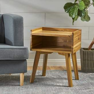 Noble House Stained Acacia Wood Side Table,Natural