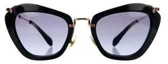 Miu Miu Geometric Cat-Eye Sunglasses