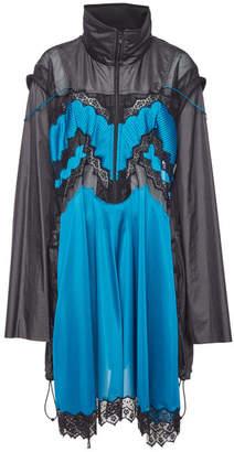Maison Margiela Embroidered Raincoat with Mesh