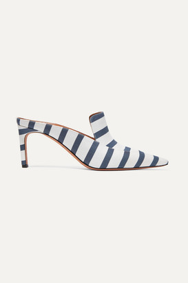 Altuzarra Davidson Striped Faille Mules - Navy