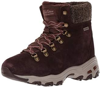 Skechers Women's D'Lites-Short Lace up Winter Boot