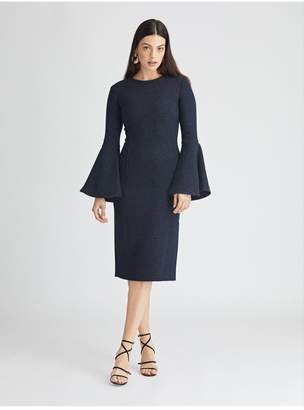 Oscar de la Renta Shimmer Wool Pencil Dress