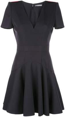 Alexander McQueen structured-shoulder dress