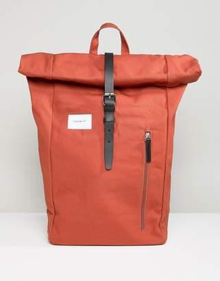 SANDQVIST Dante rolltop backpack in rust