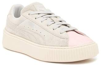 Puma Suede Platform Glam PS Sneaker (Little Kid & Big Kid)