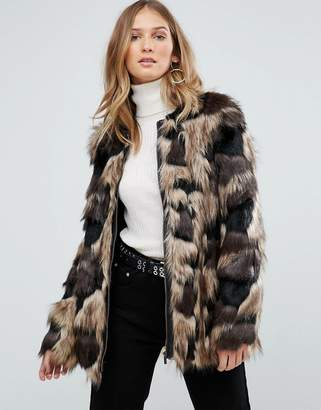Pepe Jeans Broomfield Faux Fur Coat