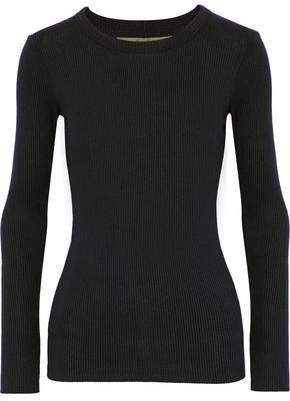 Enza Costa Ribbed Stretch-Modal Jersey Top