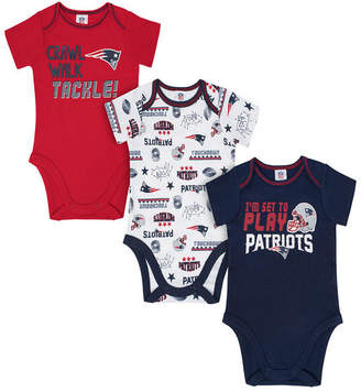 Gerber New England Patriots 3 Pack Creeper Set, Infants (0-9 Months)