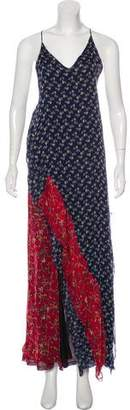 R 13 Silk Printed Maxi Dress