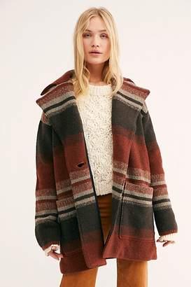 Striped Sweater Coat