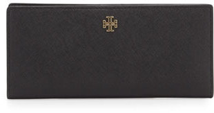 Tory Burch Robinson Slim Leather Wallet $155 thestylecure.com