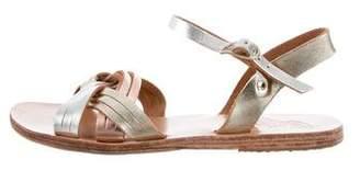 Ancient Greek Sandals Multi-Strap Metallic Sandals