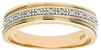N. Naava Women's 9 ct White Gold Diamond Wedding Ring, Size K