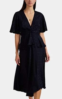 A.L.C. Women's Avi Striped Silk Dress - Navy