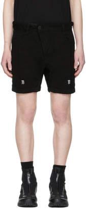 11 By Boris Bidjan Saberi Black Shaped Shorts