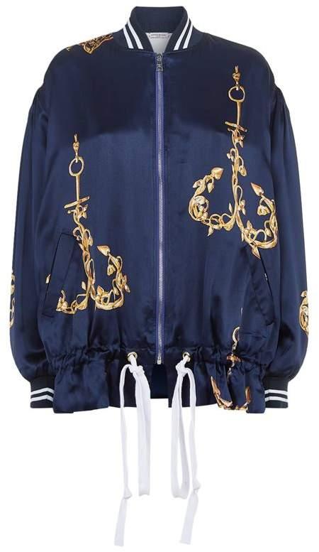 Silk Anchor Printed Bomber Jacket