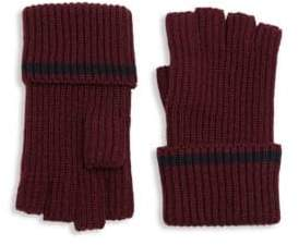 Saks Fifth Avenue MODERN Tipping Fingerless Gloves