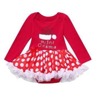 2c8d83c7f Banstore Newborn Baby Girls Christmas Xmas Tutu Tulle Dresses Romper Outfits